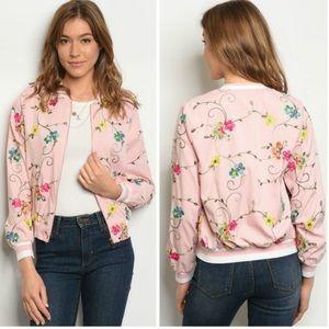Jackets & Coats - ONLY ONE LEFT! Lightweight Floral Bomber Jacket